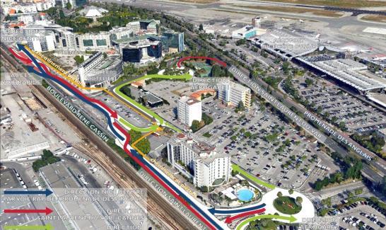 Plan de circulation sur le boulevard René Cassin à partir du 16 juillet 2015