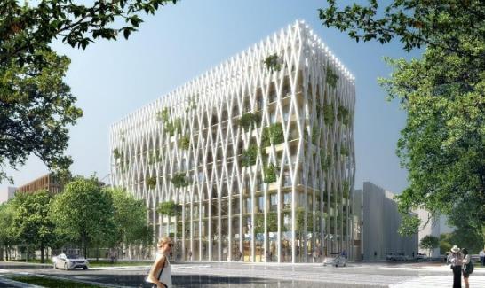 Palazzo Méridia vue de l'avenue Simone Veil ©Architecture-Studio