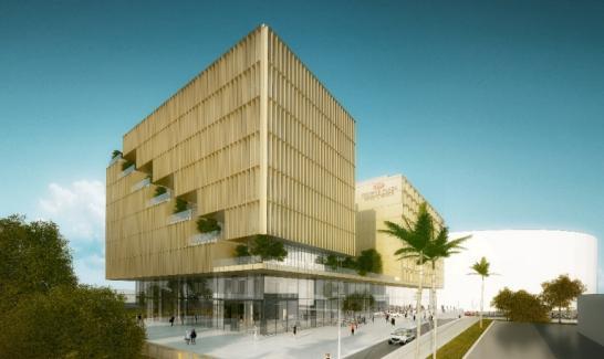 Dépôt de permis de construire - projet du promoteur NACARAT et de l'Agence SCAU au Grand Arénas