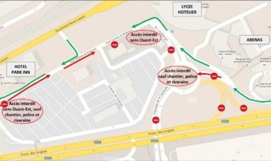 Plan de changement de circulation le 18 juillet 2016