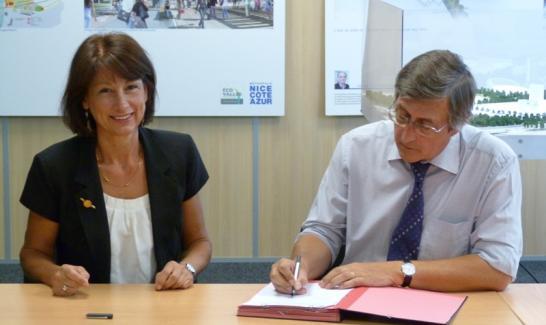 Signature d'une convention de partenariat entre le CRDP et l'EPA Plaine du Var