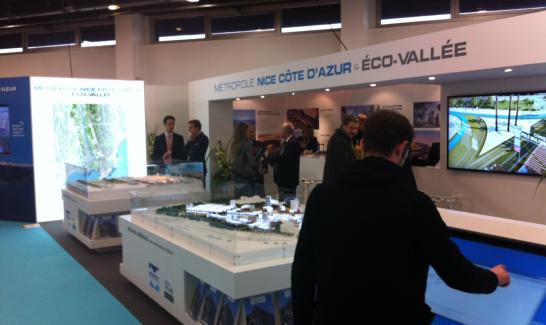 Stand Métropole Nice Côte d'Azur et Éco-Vallée au SIMI 2013