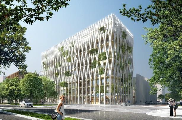 L immeuble de bureaux en structure bois le plus haut de france